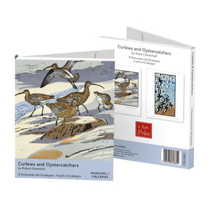 Curlews and Oystercatchers by Robert Greenhalf Notecards