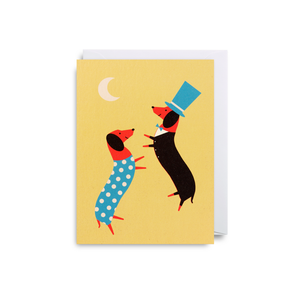 Dawid Ryski Dancing Dogs Mini Card from Lagom