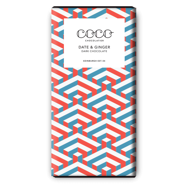 Date and Ginger Dark Chocolate from Coco