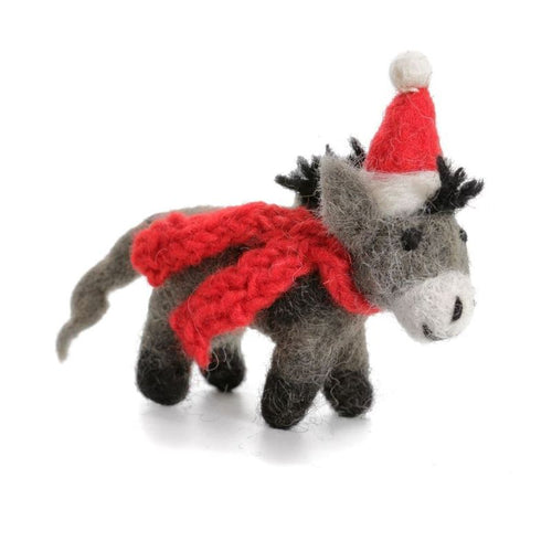 Hanging Donkey with Hat & Scarf
