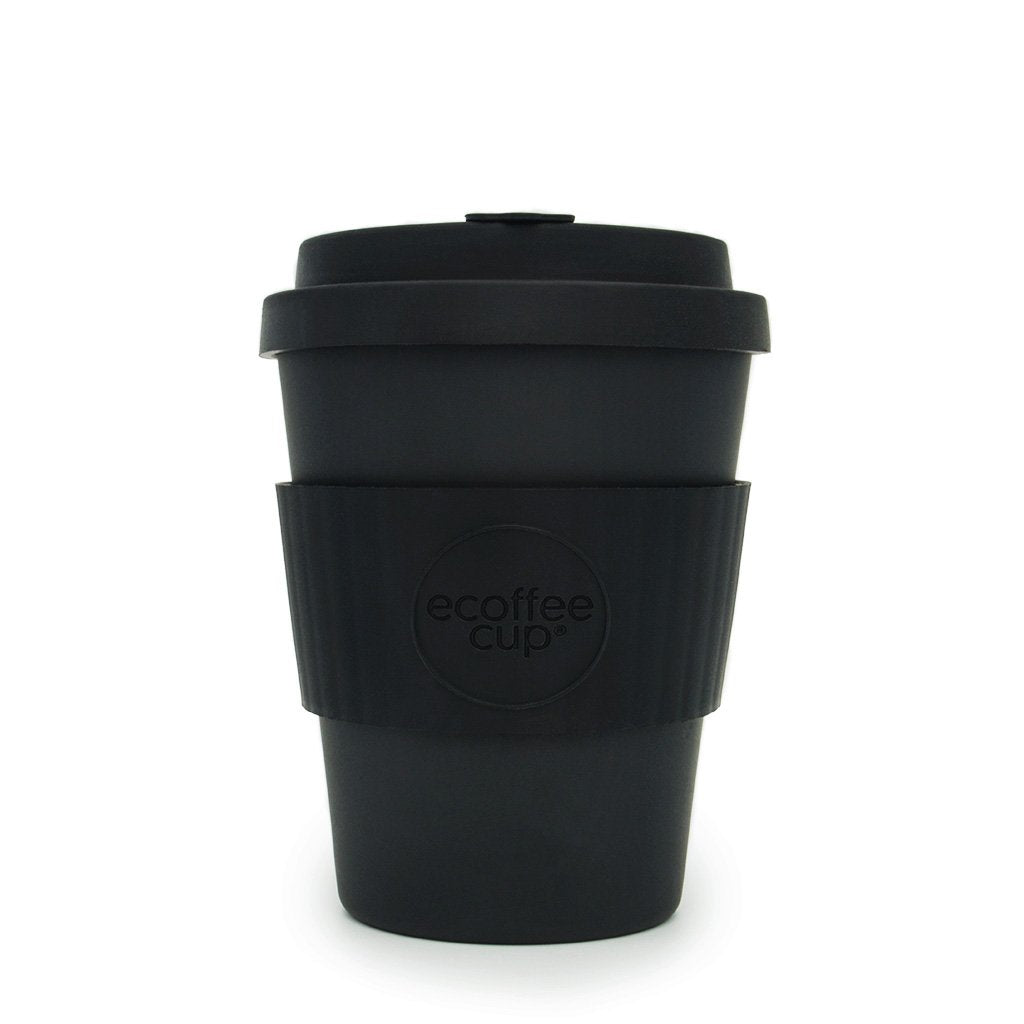 Black 12oz Reusable Bamboo Cup from ecoffee