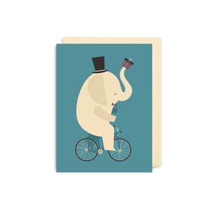 Dawid Ryski Elephant Bicycle Mini Card from Lagom