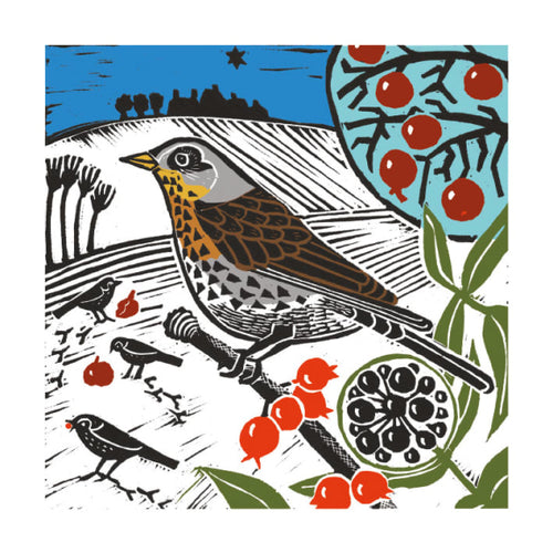Christmas Fayre Fieldfares Christmas Cards 8 Pack