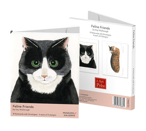 Feline Friends by Kay McDonagh Notecards