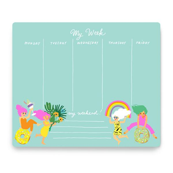 Fun Girls Weekly Planner from Noi