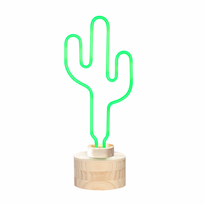 Cactus Neon Table Light from Gingersnap