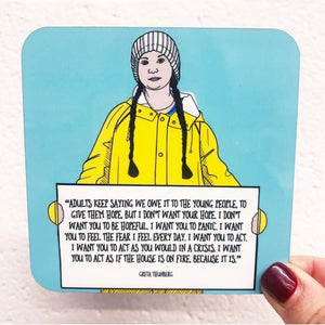 Greta Thunberg Quote Coaster