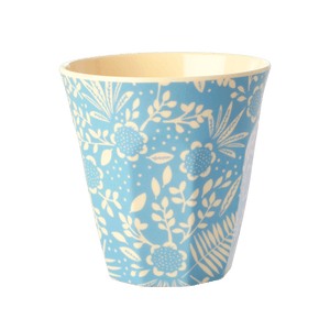 Blue Fern & Flower Print Cup