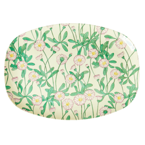 Daisy Print Rectangle Plate