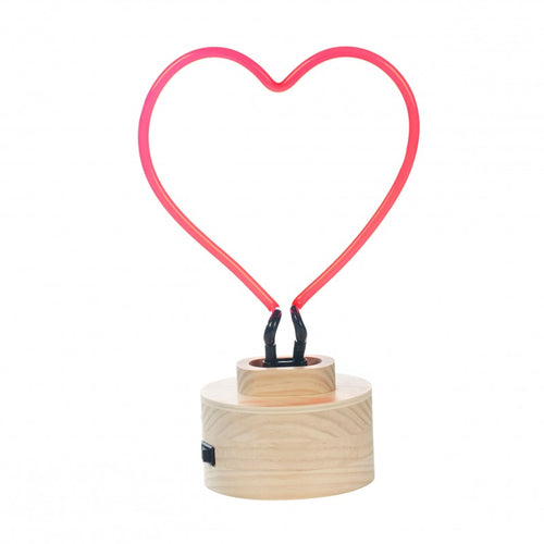 Heart Neon Table Light from Gingersnap