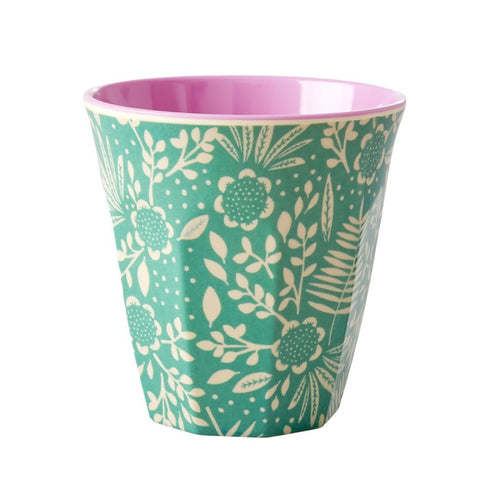 Ferns & Flowers Print Cup