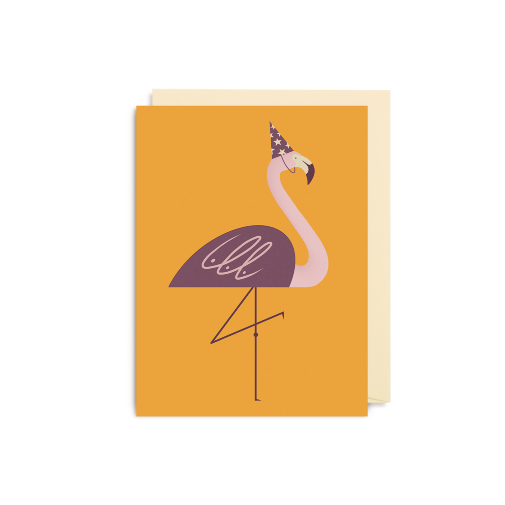 Dawid Ryski Party Flamingo Mini Card from Lagom
