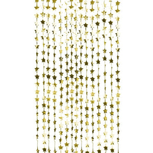 Gold Star Fringe Party Backdrop
