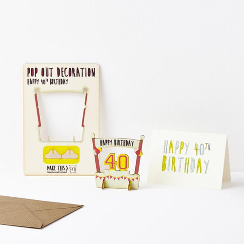 Pop Out Age 40 Card