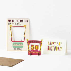 Pop Out Age 50 Card