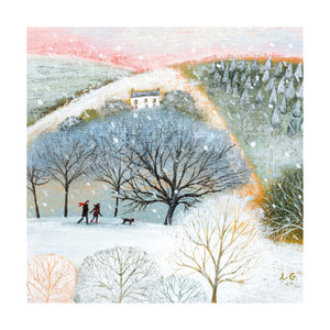 Christmas Fayre Winter Walkers Christmas Cards 8 Pack