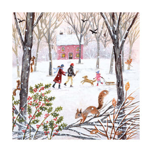 Christmas Fayre Winter Wood Walk Christmas Cards 8 Pack
