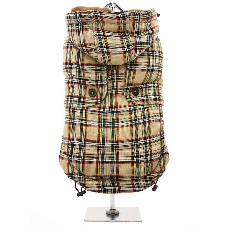 Brown Tartan Coat - Pooch Luxury