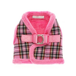 Pink Tartan Luxury Fur Lined Harness - Pooch Luxury