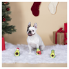 Christmas Minis Holiday Avocados 3-Piece Plush Dog Toys Set