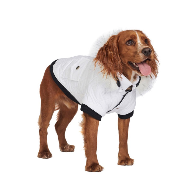Snow White Quilted Parka - Pooch Luxury