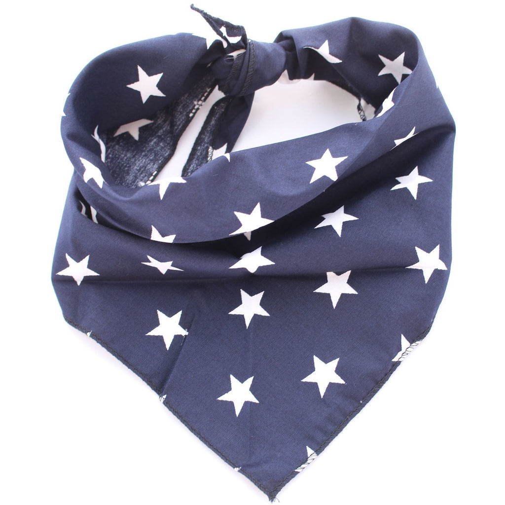 Navy Star Dog Bandana - Pooch Luxury