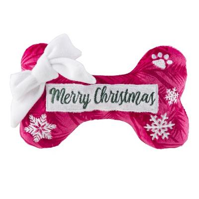 Merry Christmas Puppermint Bone Toy - Pooch Luxury
