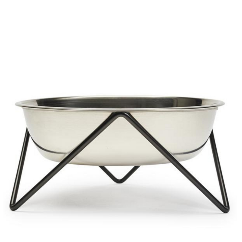 Woof Luxe Dog Bowl - Black