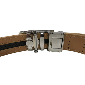 Women's Navy Leather Canvas Golf Belt - golfcovers