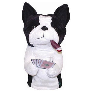 Poker Playing Boston Terrier Driver Head Cover - golfcovers