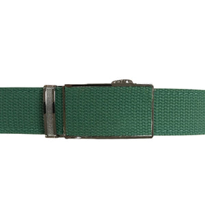 Women's Green Leather Canvas Golf Belt - golfcovers