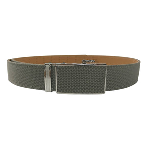 Women's Olive Leather Canvas Golf Belt - golfcovers