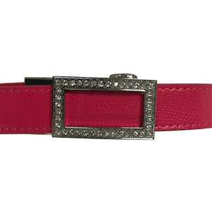 Women's Pink Leather Golf Belts - golfcovers