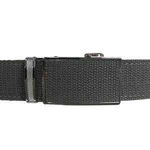 Women's Grey Leather Canvas Golf Belt - golfcovers