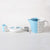 Dipped Blue Teapot & Milk Pot