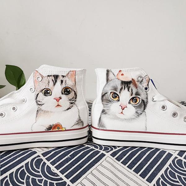 Cute cat hand-painted shoes PL21167