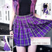 Lolita plaid A-line skirt PL20256