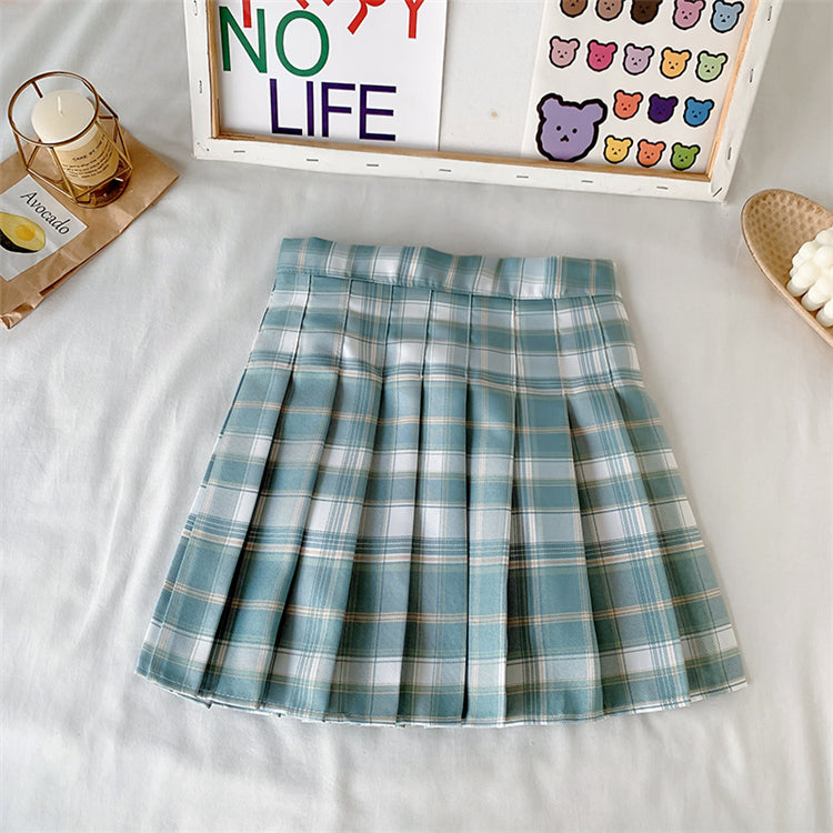 Candy color pleated skirt PL51162