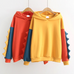 Thickened splicing sweater PL20539