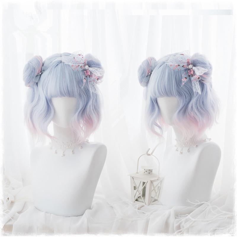 Lolita Blue Pink Mixed Wig PL20266