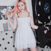 Sexy white lace harness dress  PL10063