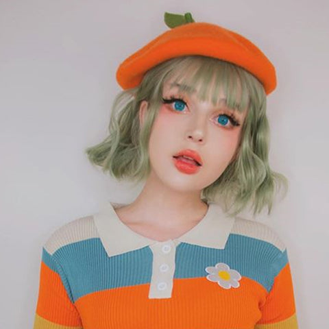 Cute candy-colored beret PL10188