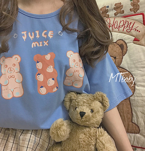 Bear cartoon t-shirt PL20695