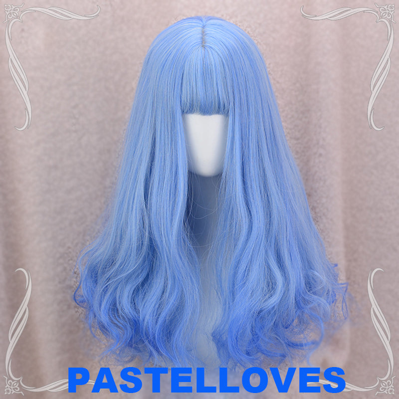 Blue-white fairy wig PL10233