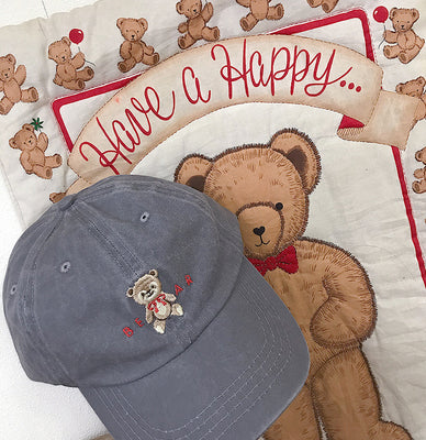 Bear embroidery baseball cap PL21060