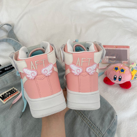 Pink casual sneakers PL50943