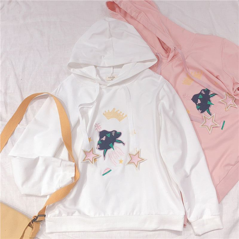 Pastelloves five-pointed star embroidered sweater PL21105