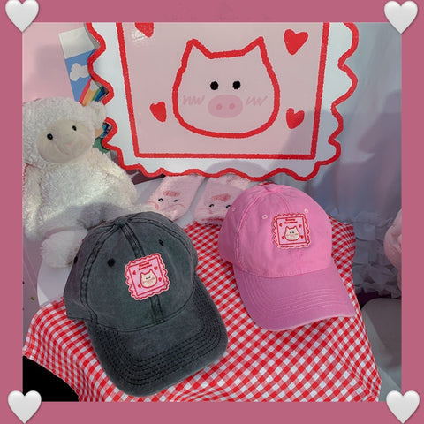 Cute piggy hat PL50078