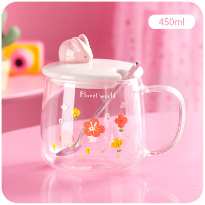 Cute drinking glass PL50007