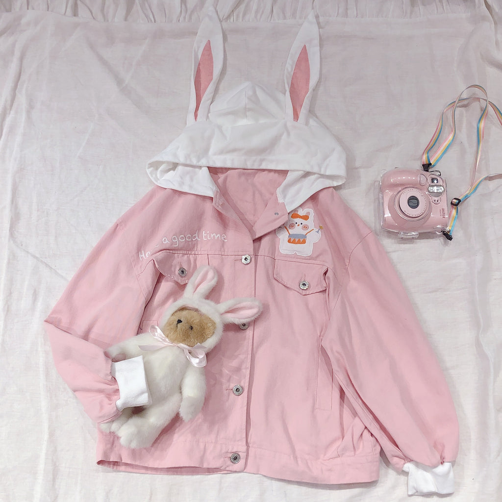 Cute Bunny Ear Jacket PL50588